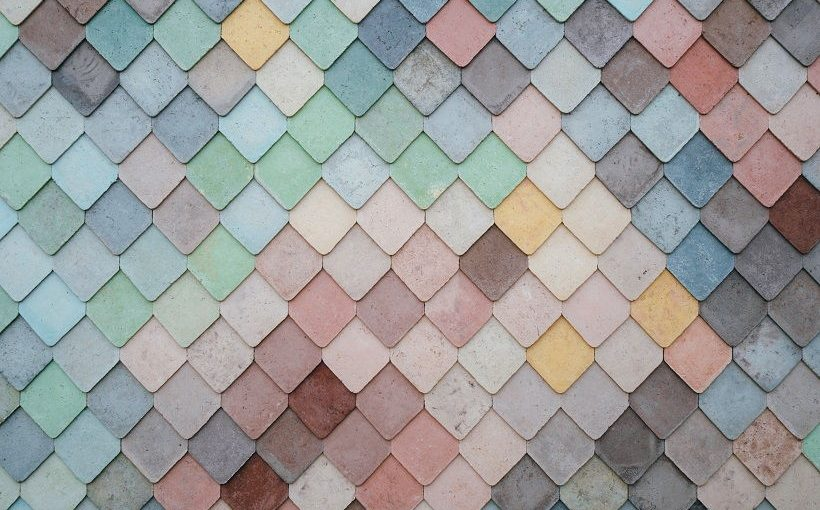 some colorful roof tiles to represent class, and functional components